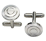 Forza Stainless Steel Round Cuff Links - J109434