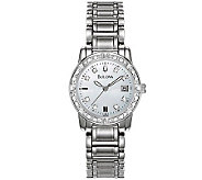 Bulova Ladies 24 Diamond Case & Bracelet Watchw/White Dial - J109834