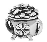Prerogatives Sterling Silver Pot of Gold Bead - J109934