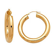 EternaGold 1-1/2 Bold Polished 14K Gold Tube Hoop Earrings - J110434