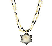 Lee Sands Citrine Nugget Necklace with Acacia Flower Pendant - J153834