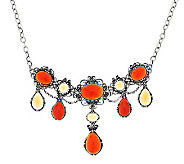 Carolyn Pollack Carnelian & Honey Citrine Sterling Necklace - J288134