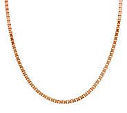 Bronze 18 Polished Box Chain Necklace by Bronzo Italia - J290834