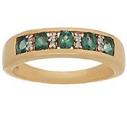 Alexandrite & Diamond Band Ring 14K Gold 0.55 ct tw - J292034