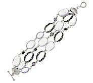 Michael Dawkins Sterling Gemstone Multi-Row Bracelet - J293134