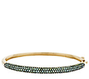 3.50 ct tw Pave Alexandrite Large Oval Bangle, 14K - J295234