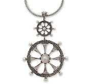 Novica Artisan Crafted Sterling Sea Wind Pendant with Chain - J298534