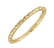 Simply Stacks 18K Yellow Gold-Plated Sterling Ring - Twisted - J298834