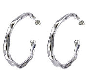 Hagit Gorali Sterling 2-1/8 Sculpted Hoop Earrings - J307234