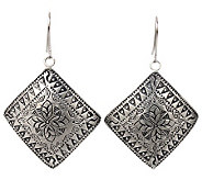 Novica Artisan Crafted Sterling Hill Tribe Sheild Earrings - J310034