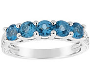 Sterling 5-Stone Round Birthstone Band Ring - J310334