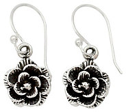 Novica Artisan Crafted Sterling Rose Garden Earrings - J310434