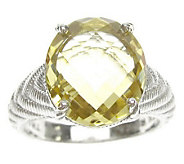 Judith Ripka Sterling Oval Gemstone Textured Ring - J311434