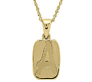EternaGold 18 Polished Rectangular Initial Pendant, 14K Gold - J315734