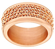 As Is Bronzo Italia Wrapped Margherita Chain Band Ring - J320234