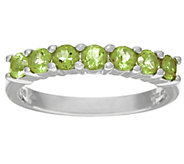 Gemstone Sterling Silver 7-Stone Band Ring 0.55 cttw - J324534