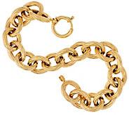 14K Gold 8 Bold Textured Rolo Link Bracelet, 16.4g - J324634