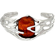 Kalos by Hagit Sterling Silver and Glass Sedona Cuff - J327134
