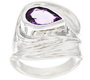 Hagit Sterling Silver 0.9 cttw Gemstone Sculptured Ring - J328434