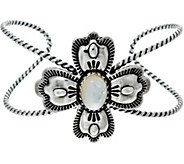 Sterling Silver Mother-of-Pearl Cross Cuff by American West - J329434