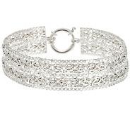 Sterling Silver 7-1/4 Double Byzantine Bracelet, 13.10g - J330534