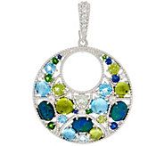 Judith Ripka Sterling 2.50 cttw Multi Gemstone Enhancer - J331034