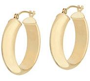 As Is EternaGold 3/4 Polished Round Hoop Earrings 14K Gold - J333034