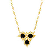 Judith Ripka 20 Sterling & 14K Clad Faceted Black Spinel Necklace - J333334