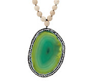 Ellie Madison Choice of Colored Agate Gemstone Necklace - J334834