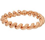As Is Bronze Polished San Marco Magnetic Clasp Bracelet Bronzo Italia - J335434