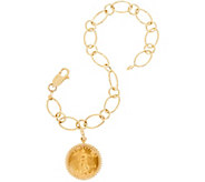 14K/22K Gold Liberty Coin 6-3/4 Charm Bracelet, 7.1g - J348834