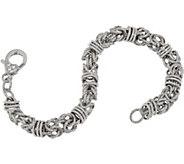 Judith Ripka Verona Sterling Silver Byzantine Bracelet, 11.8g - J349234
