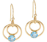 Semi-Precious Gemstone Dangle Earrings 14K Gold - J351134