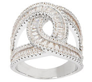 Diamonique Baguette Loop Ring, Sterling - J353434