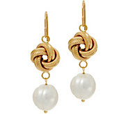 As Is Honora Cultured Pearl Knot Drop Earrings, 14K Gold - J355234