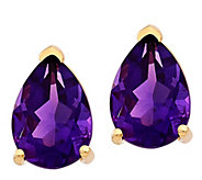 14K Pear-Shaped Gemstone Post Earrings - J376934
