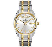 Bulova Mens Classic Two-tone Dress Watch - J378534