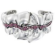 Hagit Sterling Ruby Sculpted Cuff - J381434