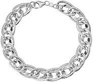 Italian Gold Oval Interlocking Link Bracelet 14K, 5.6g - J382034