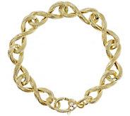Judith Ripka Verona 14K-Clad Infinity Link Bracelet 14.5g - J383234