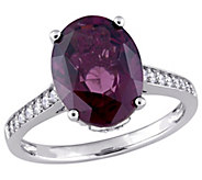 14K Gold 4.80-ct Oval Violet Spinel & 1/4-ct Diamond Ring - J383634