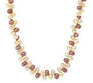 Honora Cultured Pearl 18 Oval Sterling Necklace - J264635