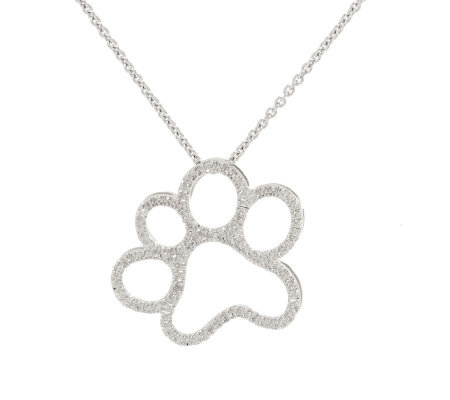 Diamond Paw Print Pendant Sterling by Affinity