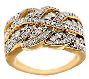 As Is Braided Design Diamond Ring, 14K Gold 3/4 cttw, by Affinity - J285335