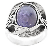 Or Paz Sterling Tanzanite Cabochon Textured Ring - J286135