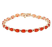 Premier 5.50 ct tw Red Fire Opal 7-1/4 Tennis Bracelet, 14K - J288735