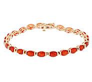 Premier 5.50 ct tw Red Fire Opal 7-1/4 Tennis Bracelet, 14K - J288735