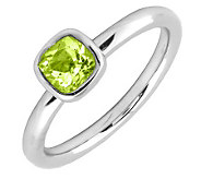 Simply Stacks Sterling & Cushion Cut Peridot Ring - J299435