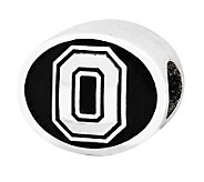 Sterling Silver Ohio State University Bead - J300835