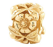 Prerogatives 14K Yellow Gold-Plated Sterling Flower Bead - J302735